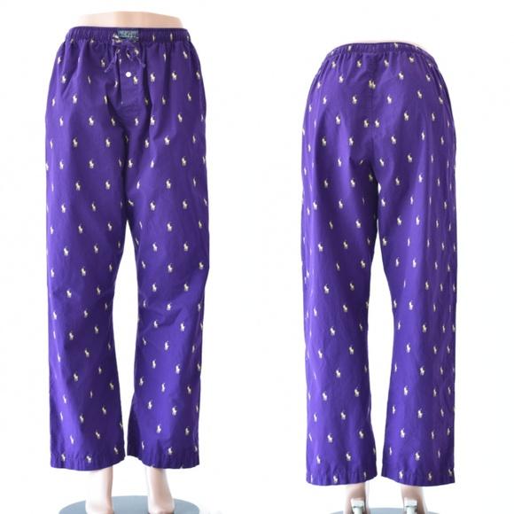 Sleepwear Ralph Purple Polo Lauren Womans Pants M oCxerdBW
